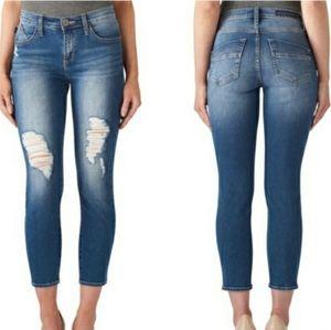 Rock & Republic kashmiere crop distressed jeans
